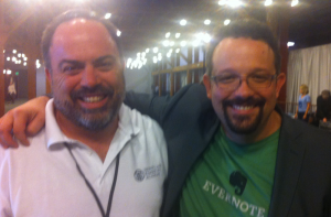Me with Phil Libin. I was geeked out!