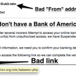 "Examples of various types of ""Phishing"" attempts."